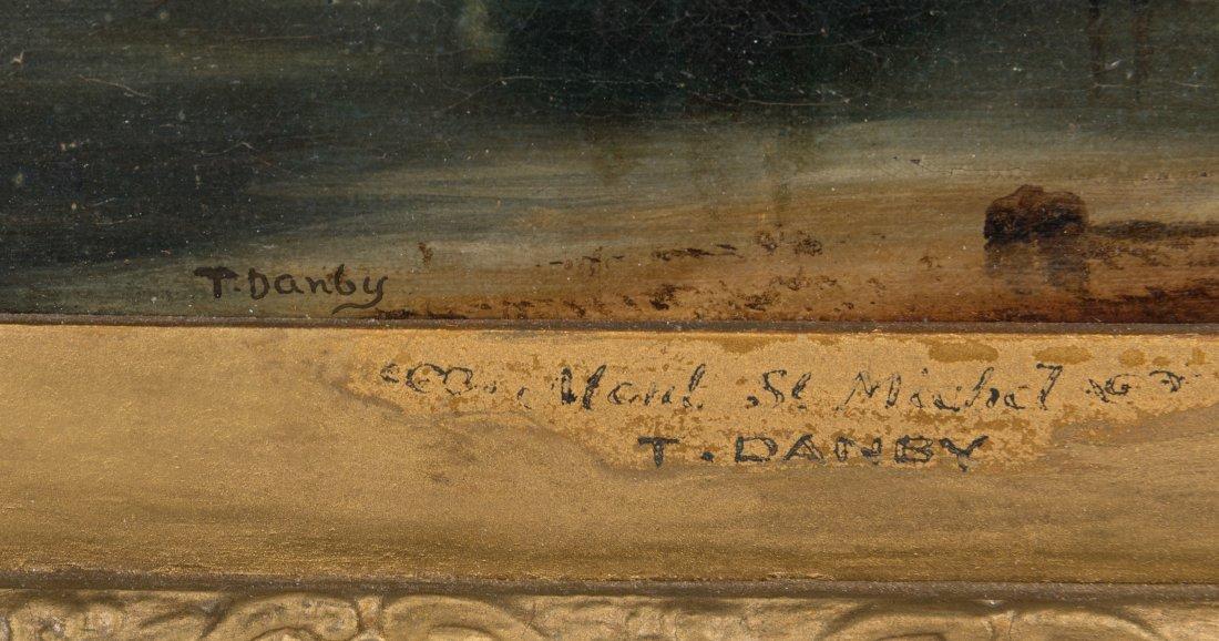 Oil on Canvas - Mont St. Michel - Signed T. Danby - 4