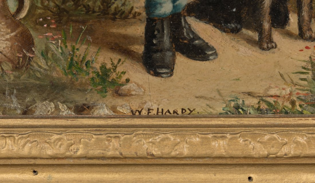 Primitive Oil on Board - Signed William F. Hardy - 3