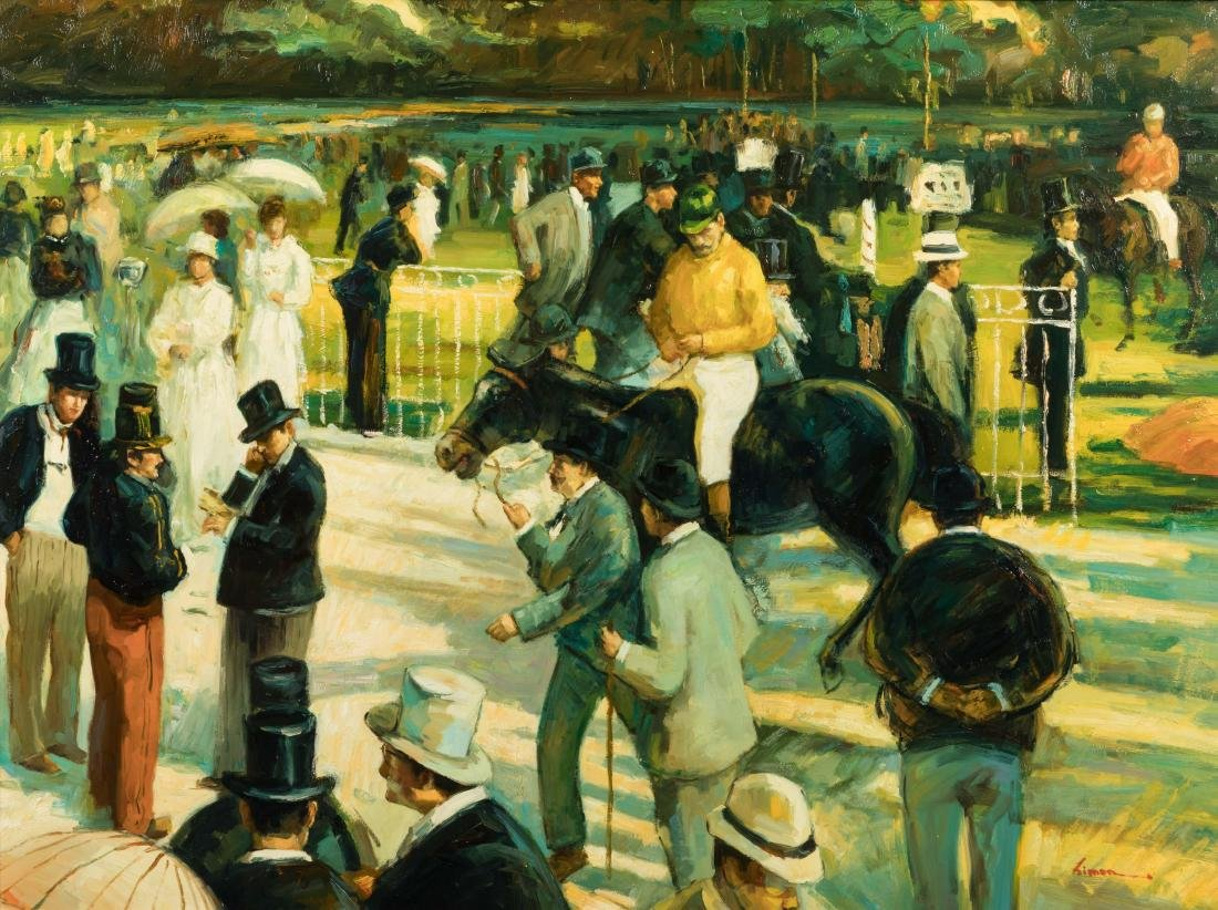 Horse Racing - Oil - Signed Limon - 2