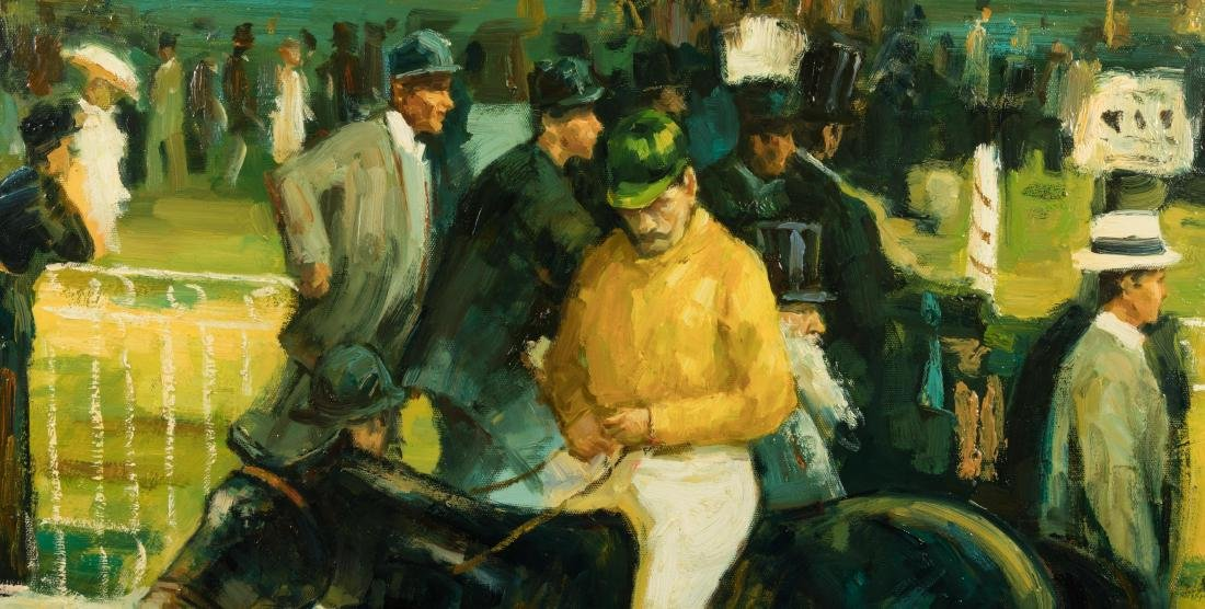 Horse Racing - Oil - Signed Limon - 4