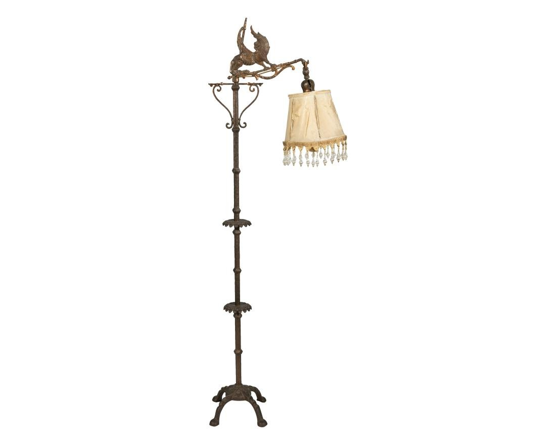 Figural Iron Floor Lamp and Iron Sconce - 3