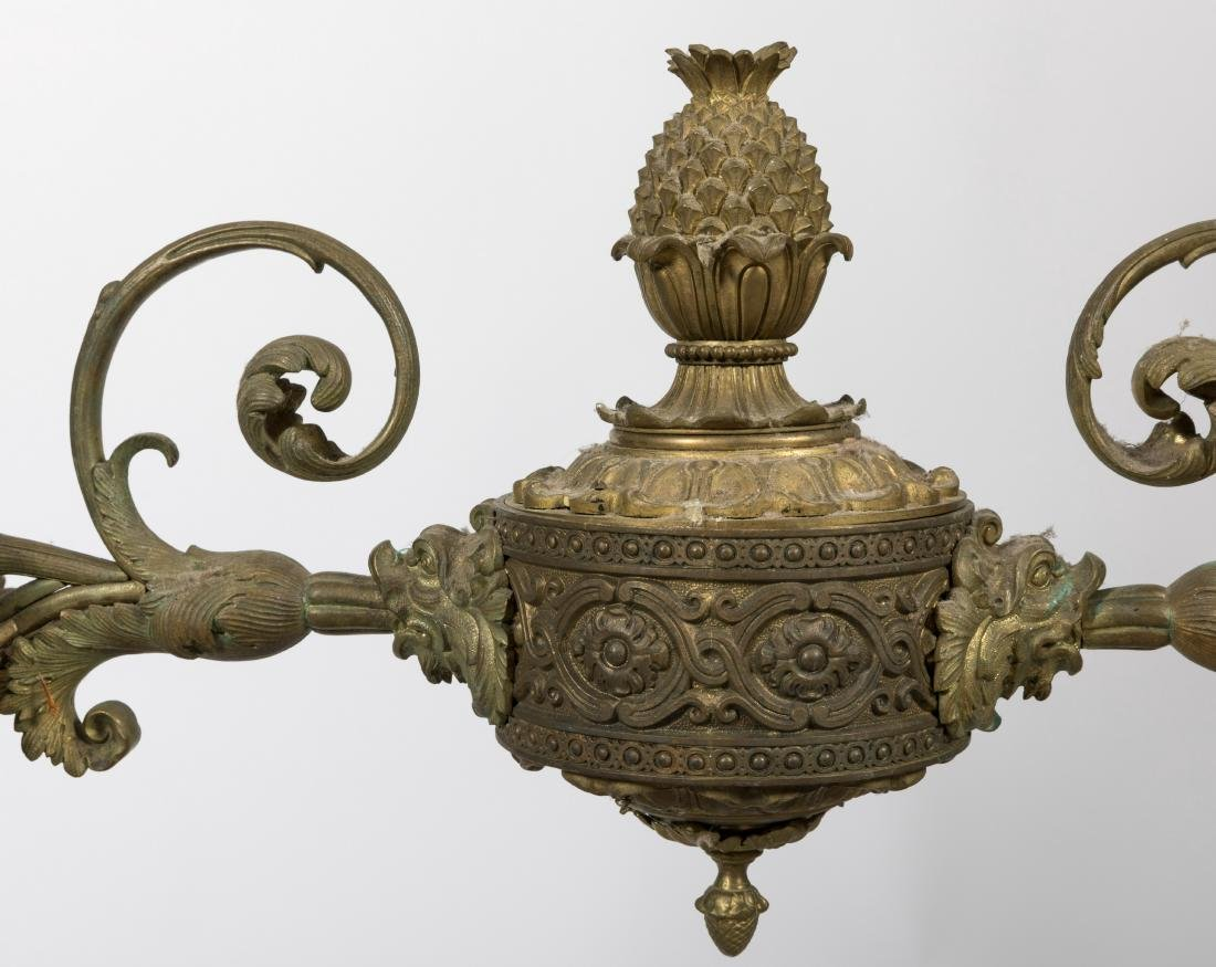Large French Bronze Chandelier - 2