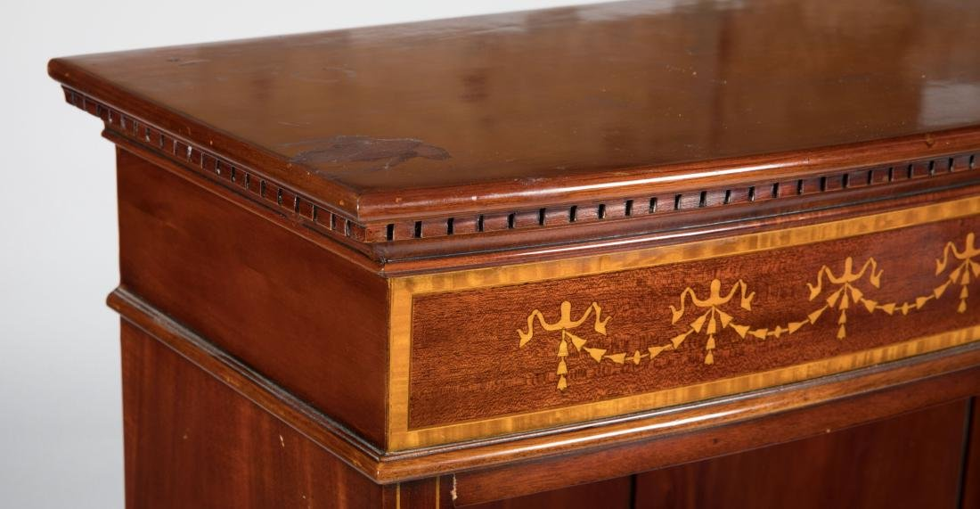 Inlaid Mahogany French Bookcase - 2
