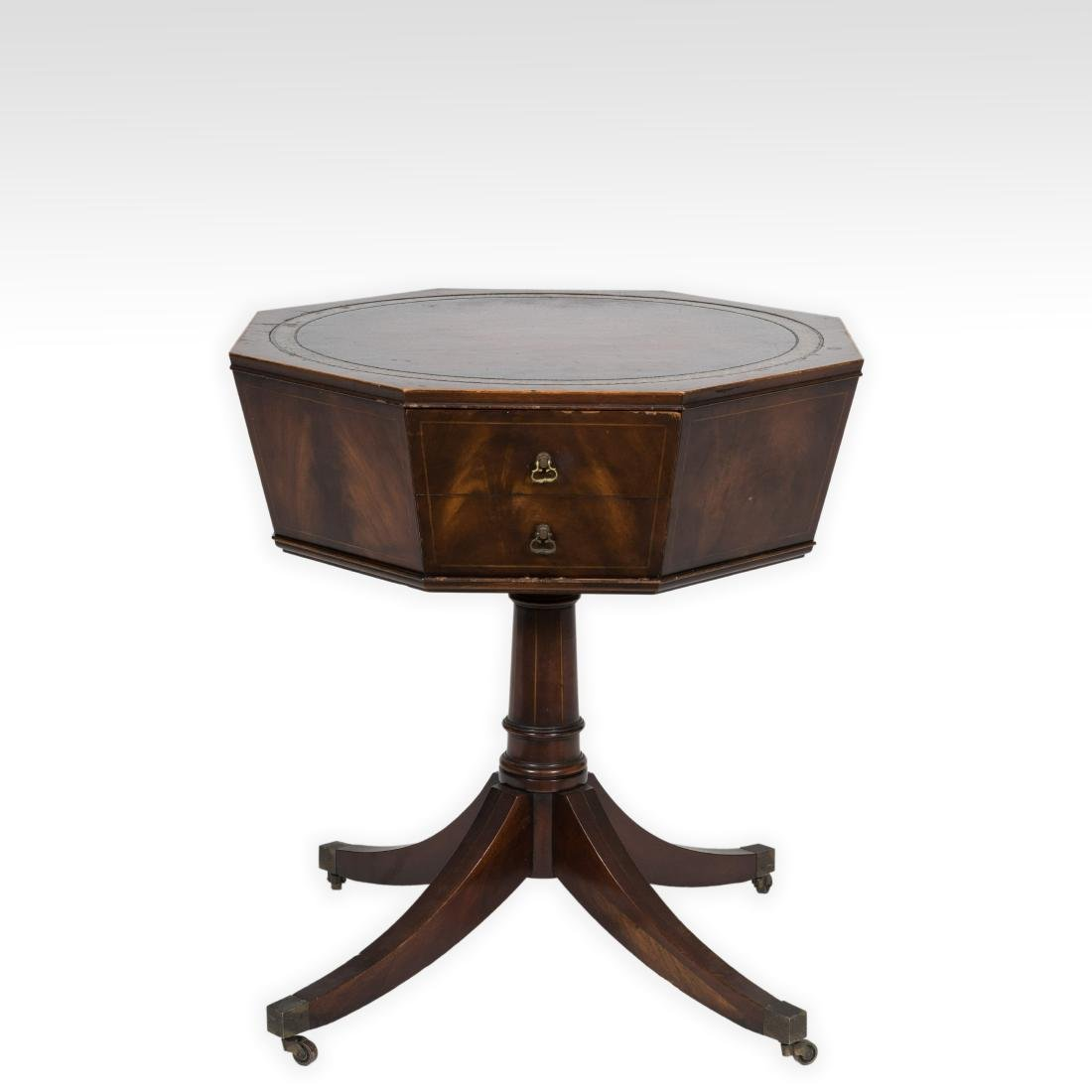 Weiman Octagonal Leather Top Table