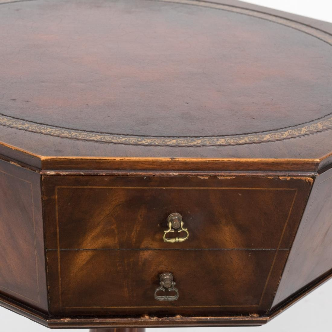Weiman Octagonal Leather Top Table - 2