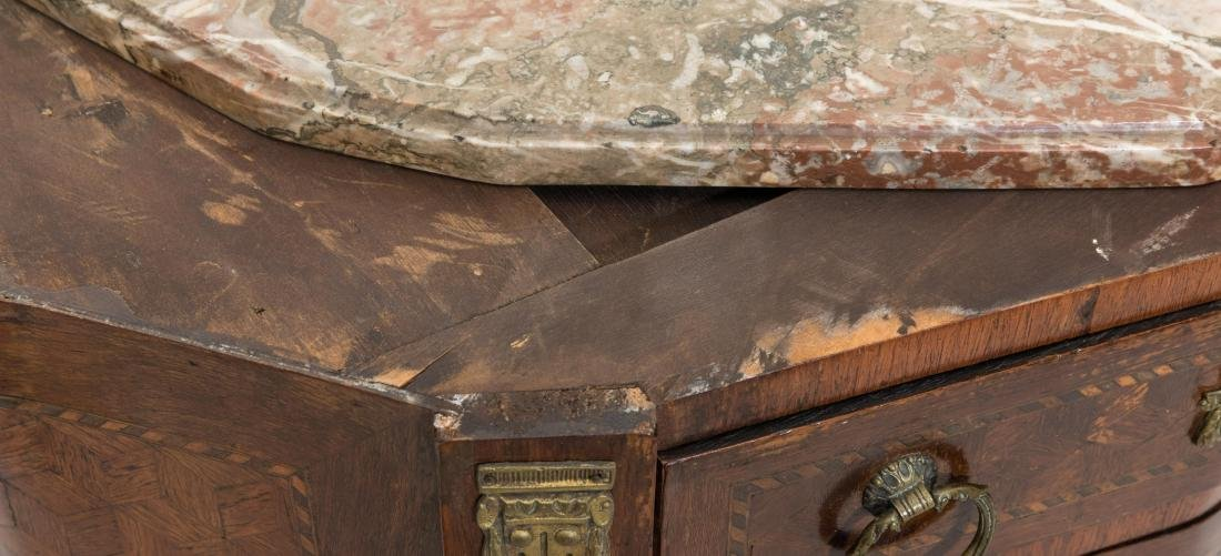 Inlaid French Marble Top Commode - 3