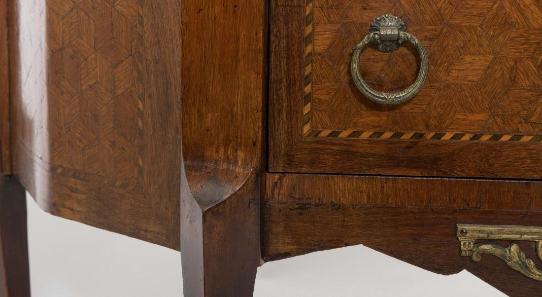 Inlaid French Marble Top Commode - 6