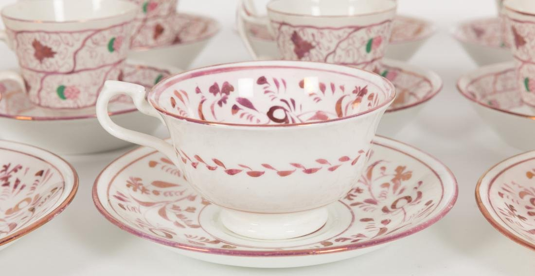 Group 40 Luster Cups and Saucers - 2
