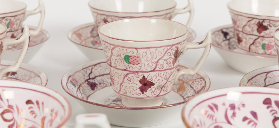 Group 40 Luster Cups and Saucers - 3