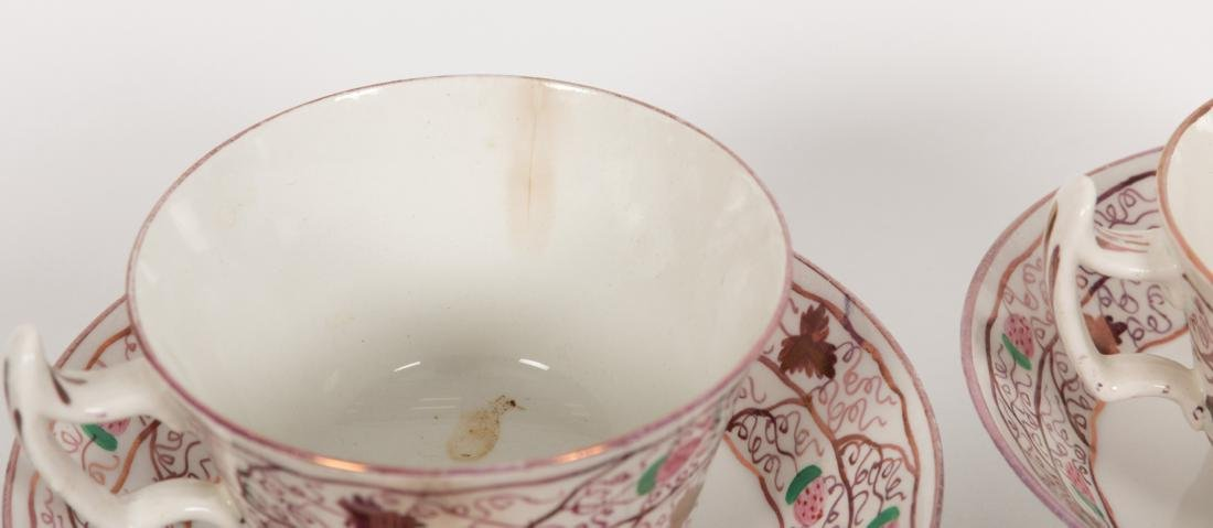 Group 40 Luster Cups and Saucers - 4