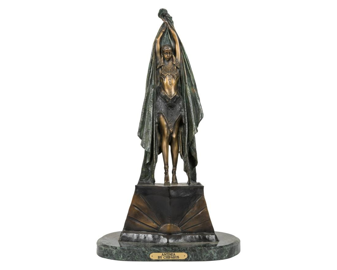 Demetre Chiparus (After) - Bronze of Antinea