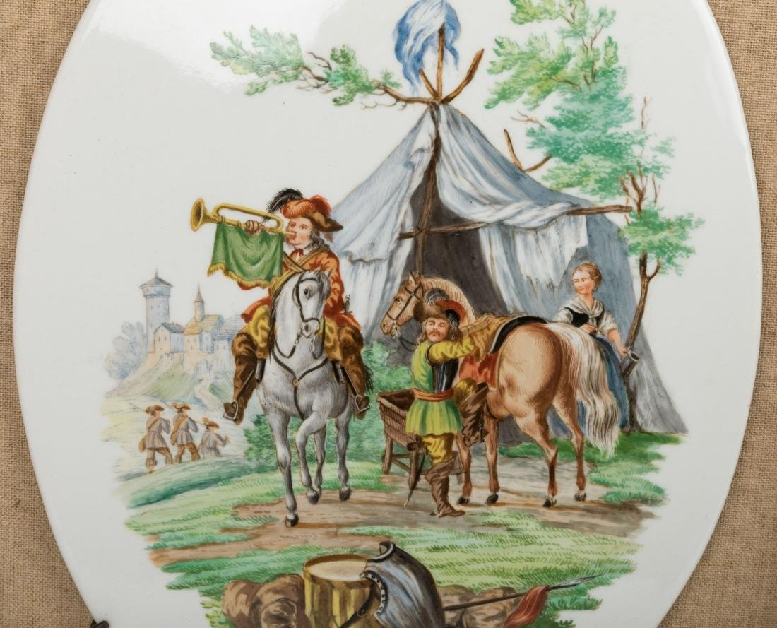 Pair Framed English Porcelain Plaques - 3