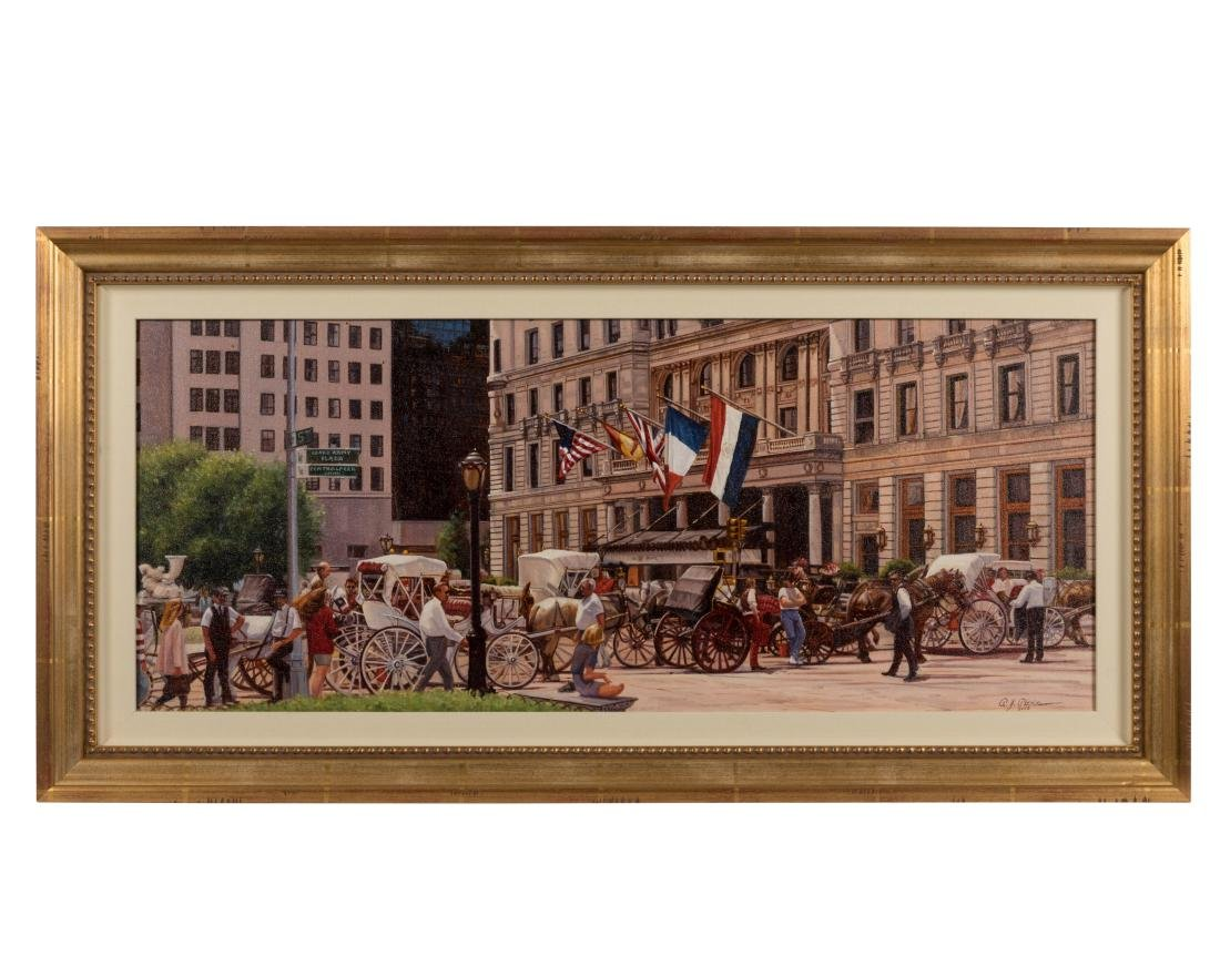"""Oil Painting """"The Plaza"""" - Signed Alexander"""