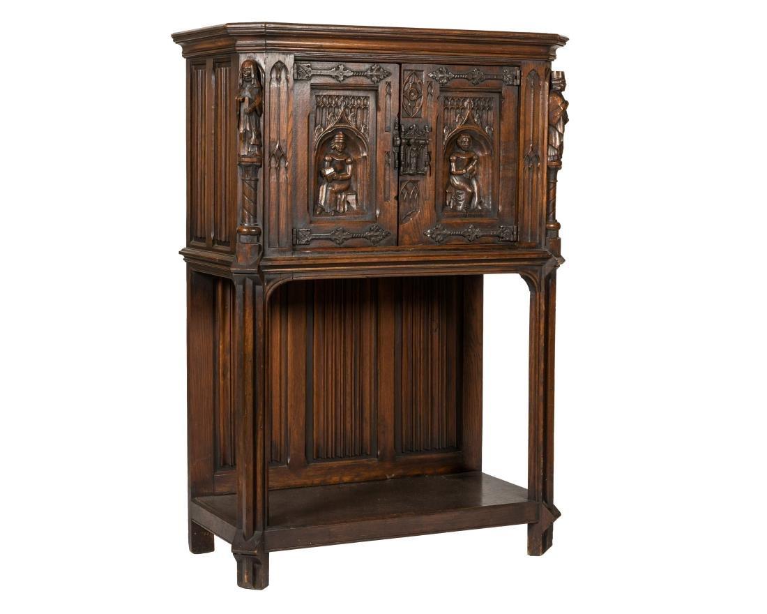 Jacobean Oak Court Cupboard
