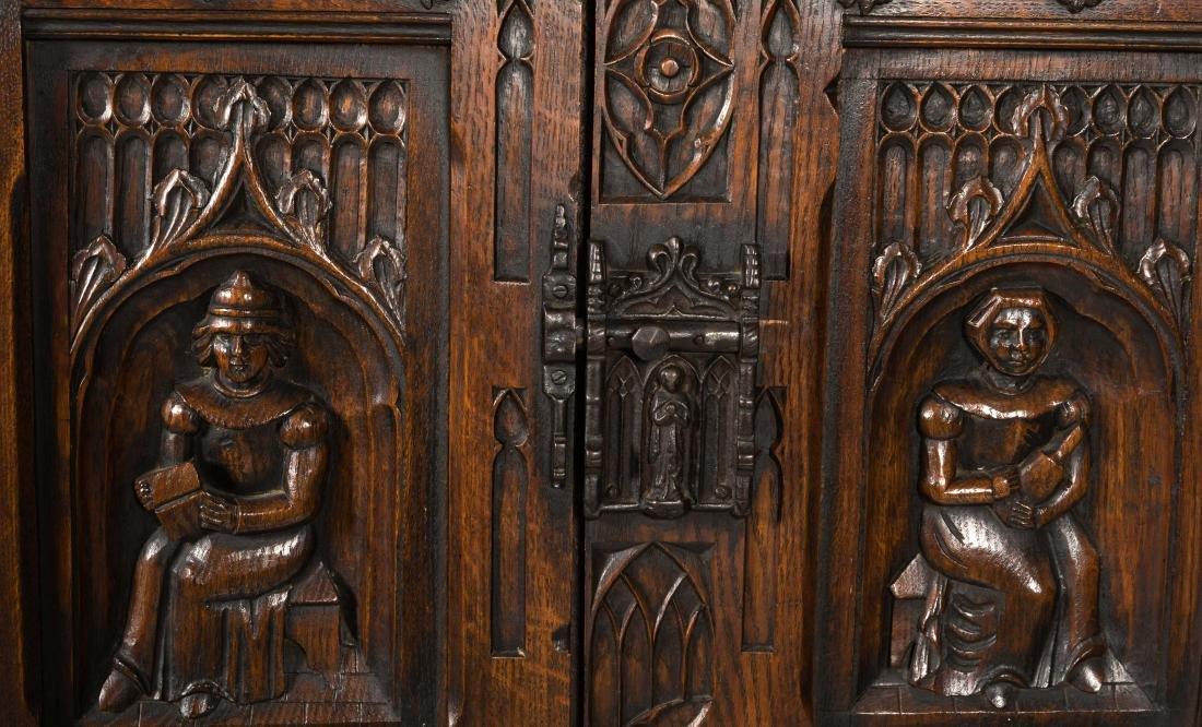Jacobean Oak Court Cupboard - 3