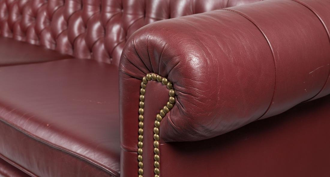 Chesterfield Leather Sofa - 3