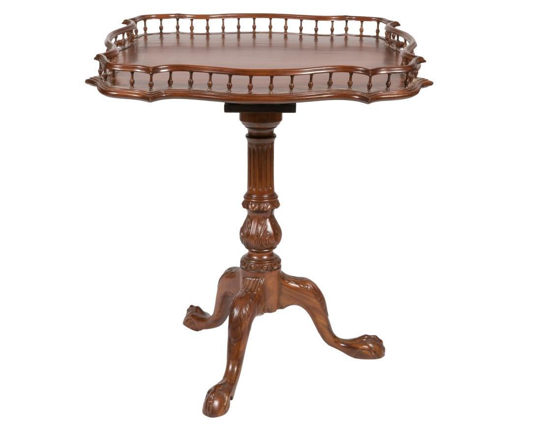 Mahogany Bird Cage Tilt Top Table