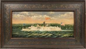 Oil on Board  James W Baldwin  Signed J Clark