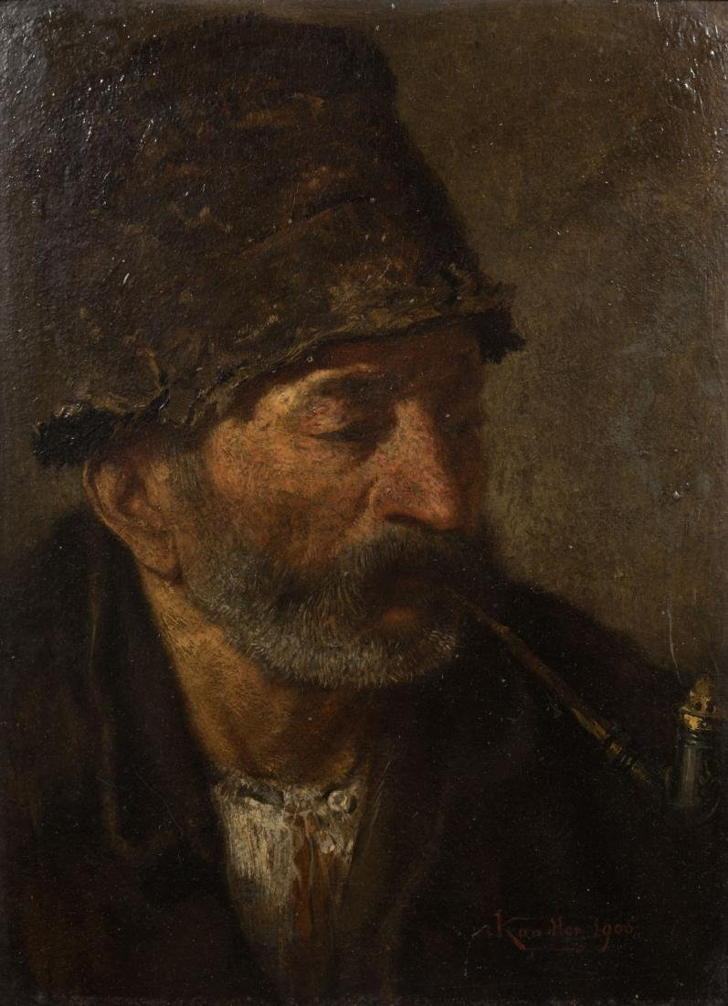 Ludwig Kandler - Oil on Board - Signed - 2