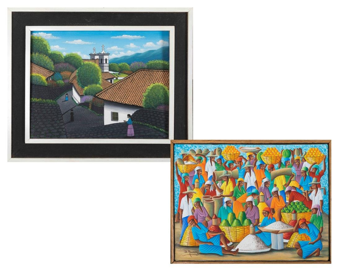 Two Honduran Oil on Canvas Paintings - Signed