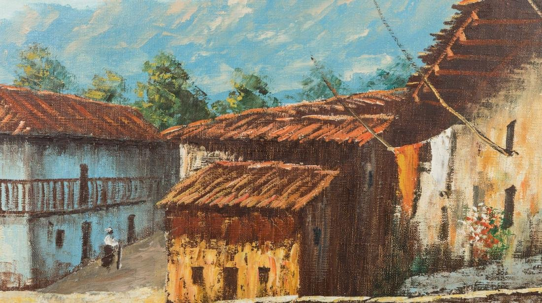 European Mountain Village - Oil on Canvas - Signed - 3