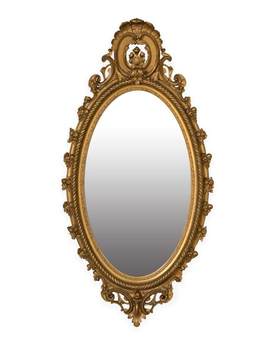 Gold Leaf Ornate Victorian Mirror