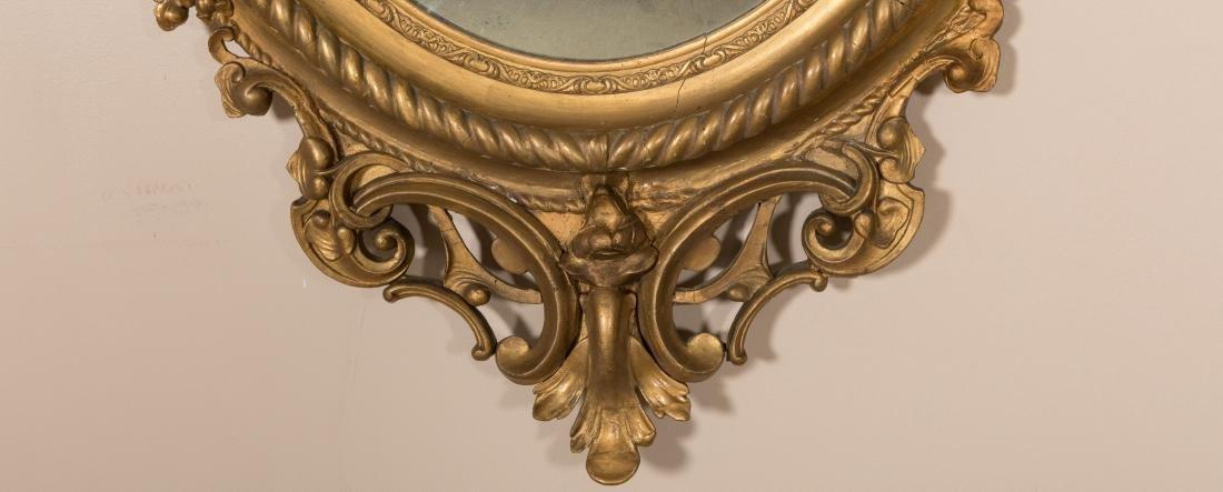 Gold Leaf Ornate Victorian Mirror - 3