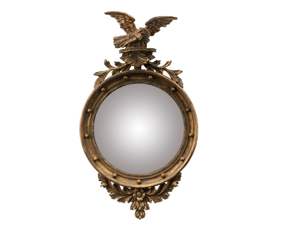 Carved Eagle Federal Style Bullseye Mirror
