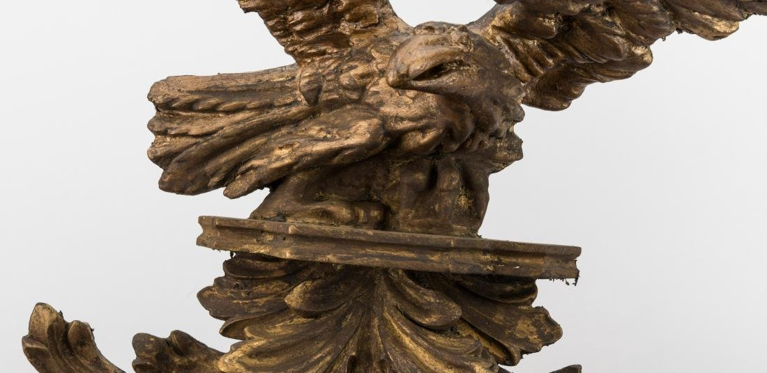 Carved Eagle Federal Style Bullseye Mirror - 2