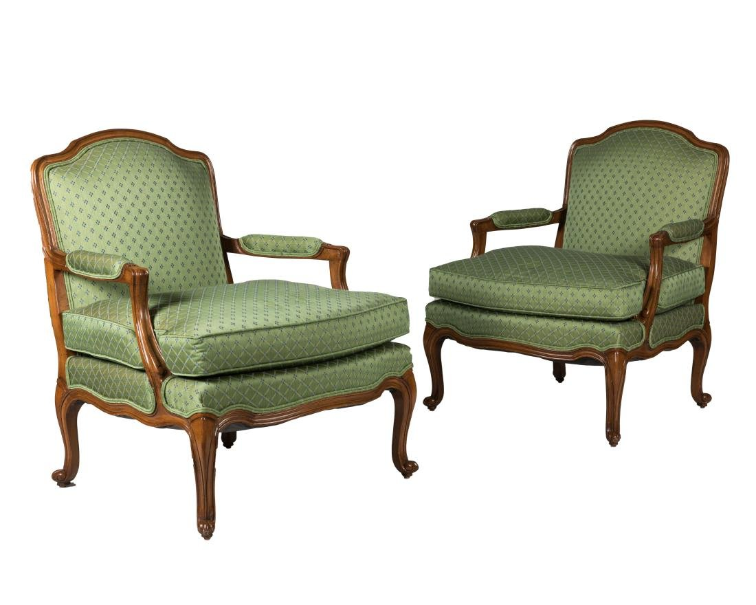 Pair French Style Arm Chairs