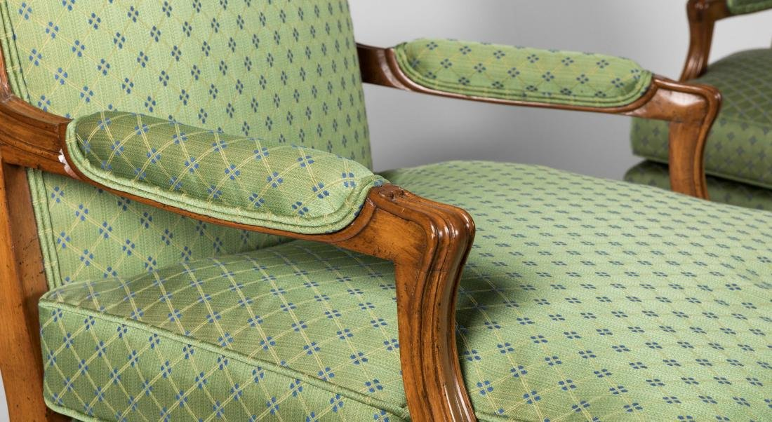 Pair French Style Arm Chairs - 2