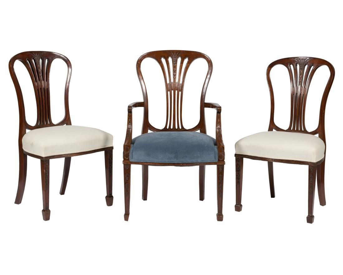 Eight Hepplewhite Style Dining Chairs - 2