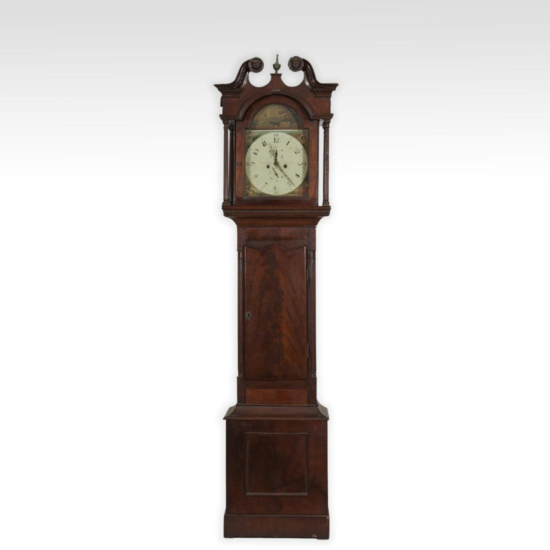 Mahogany Chippendale Grandfather Clock