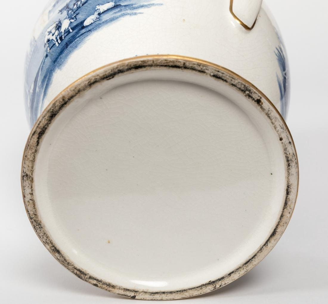 Pair Staffordshire Covered Urns - 7