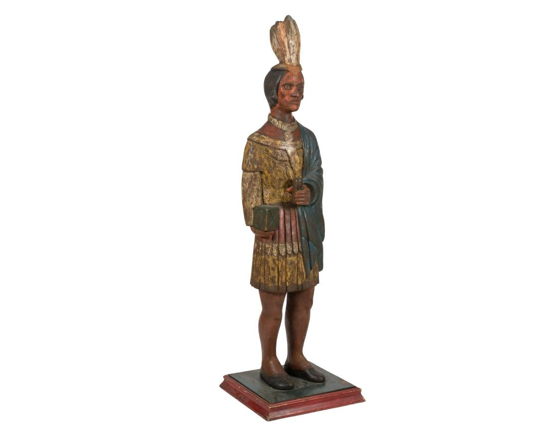 Carved Wooden Cigar Store Indian