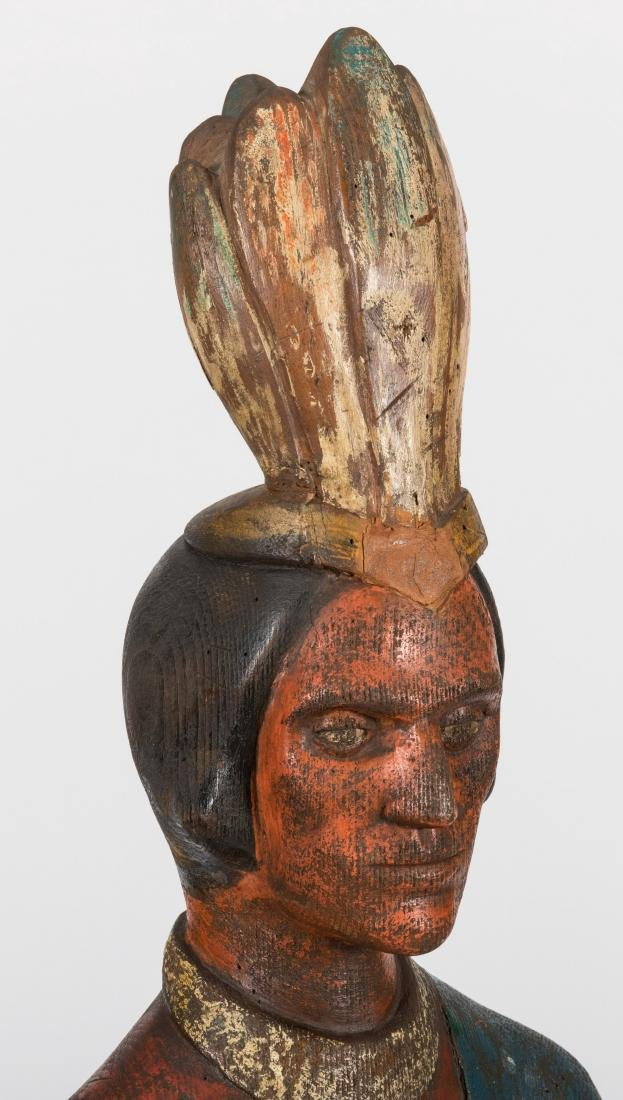 Carved Wooden Cigar Store Indian - 2