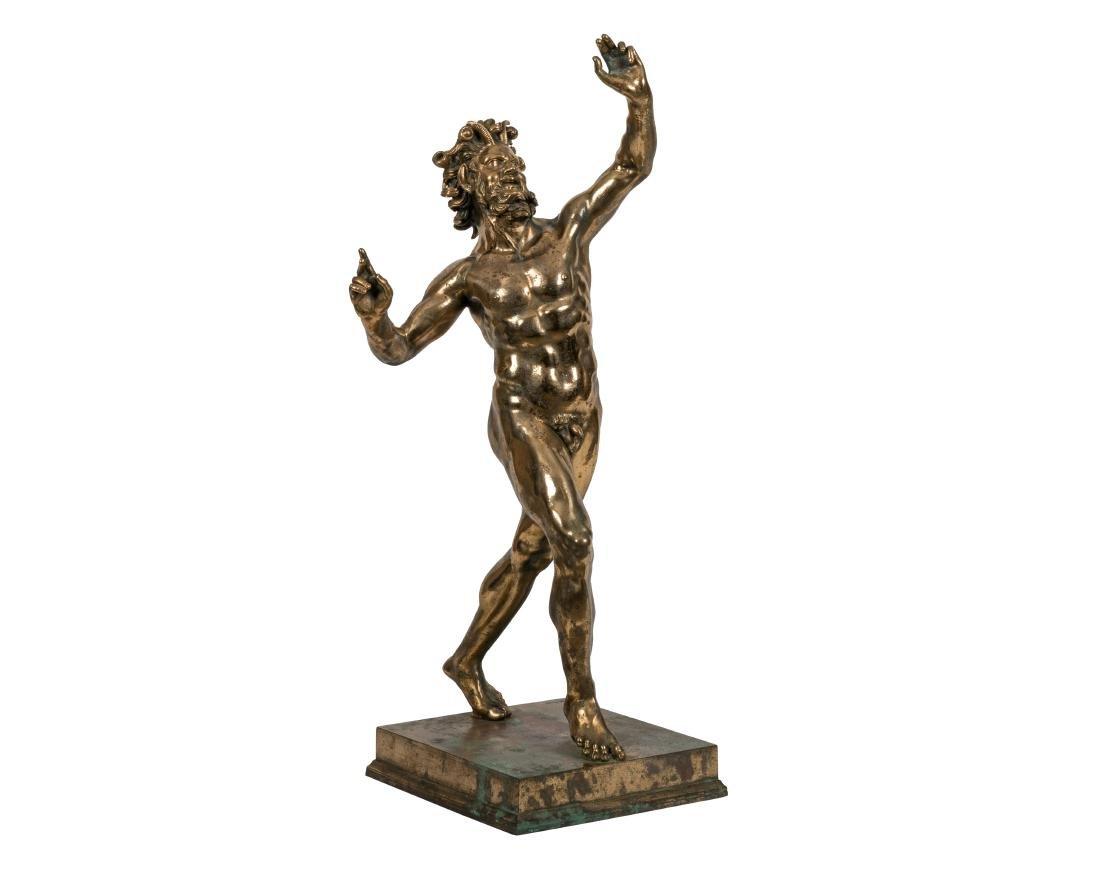 Bronze Pan Figure