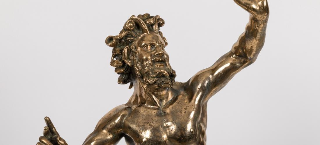 Bronze Pan Figure - 2