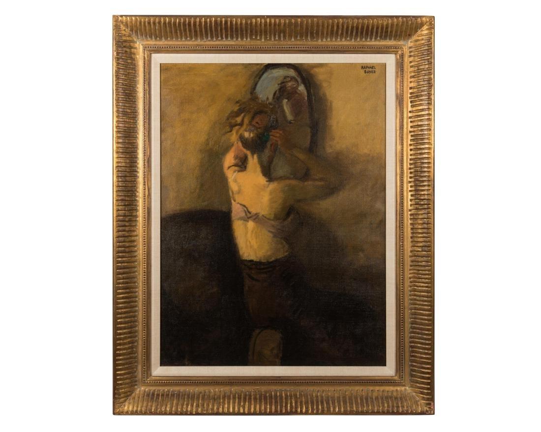 Raphael Soyer - Oil on Canvas