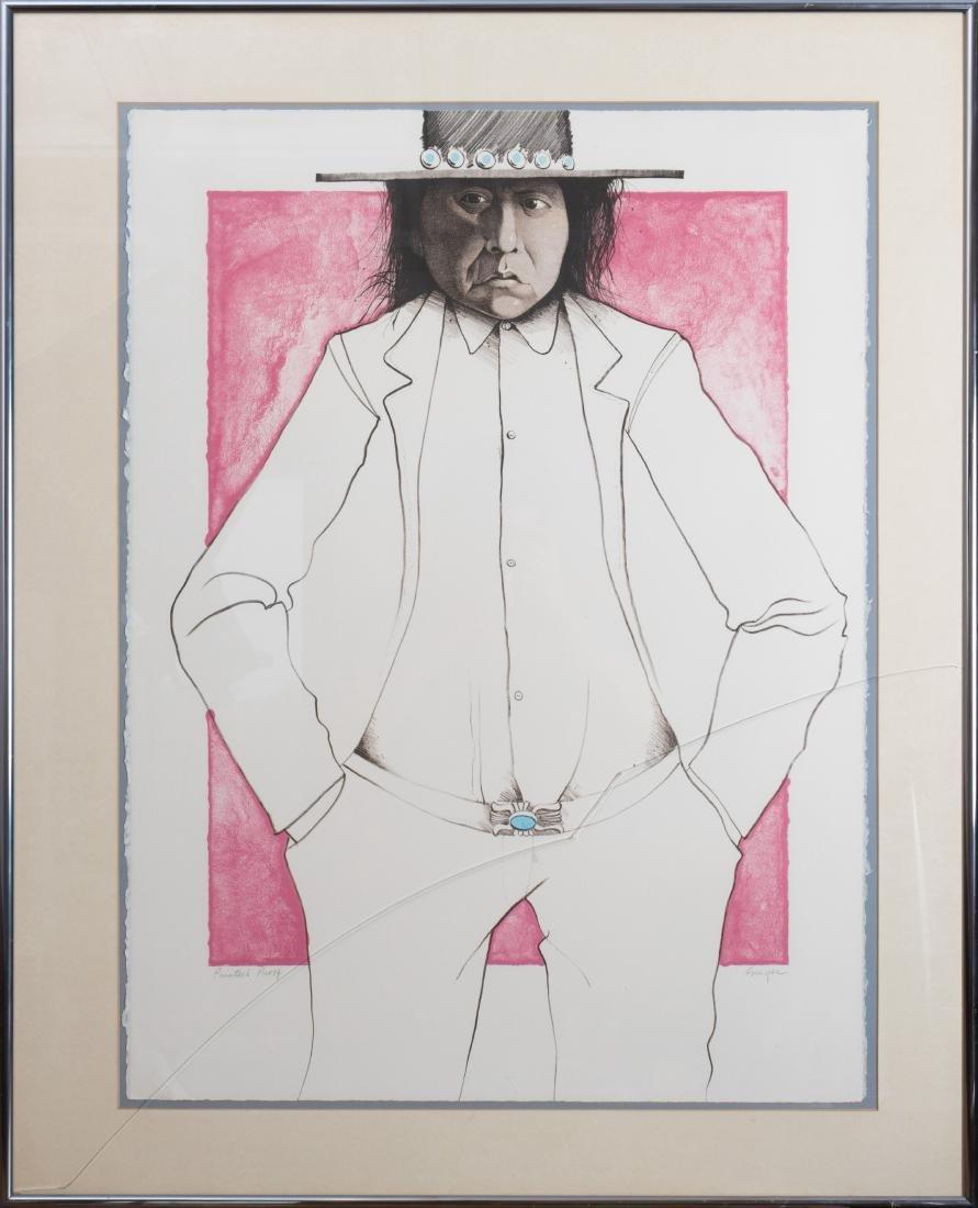 """Ed Singer - """"Who is R. C. Gorman"""" - Printers Proof"""