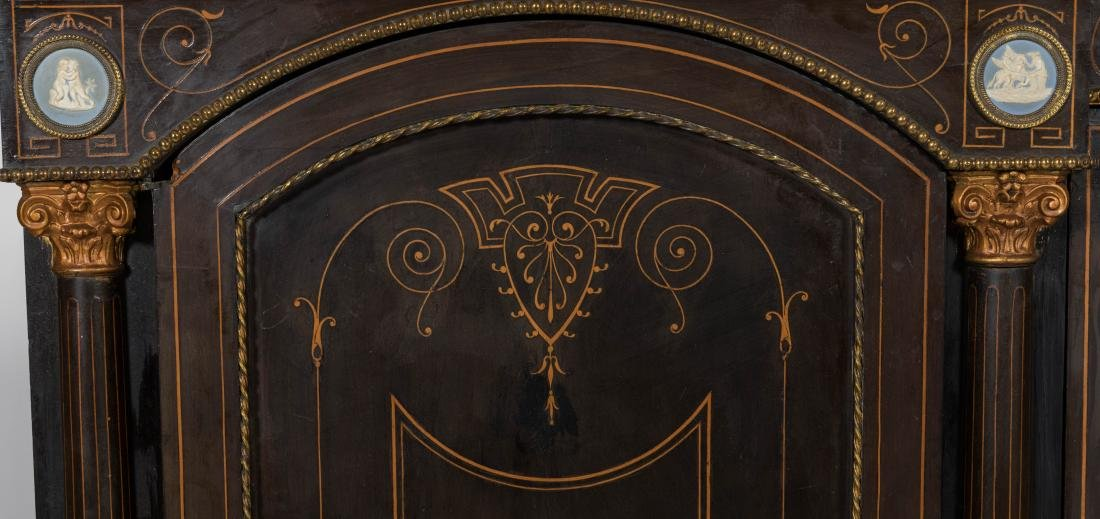 Inlaid Victorian Sideboard - 4