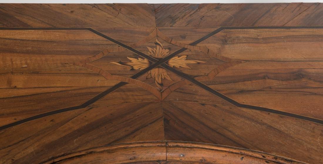 Antique Rosewood Serpentine Chest - 3