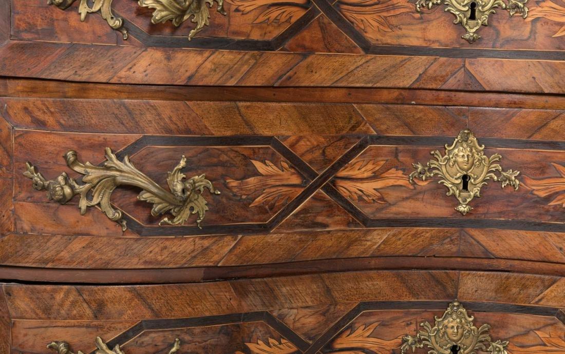 Antique Rosewood Serpentine Chest - 4
