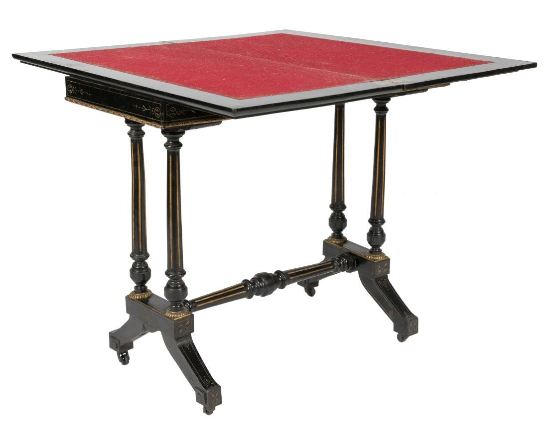 Frank Taylor & Co. Ebonized Game Table - Signed - 2