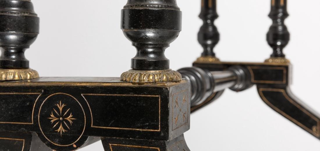 Frank Taylor & Co. Ebonized Game Table - Signed - 6