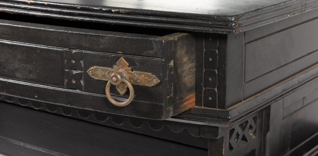 Ebonized Two Part Victorian Davenport Desk - 3