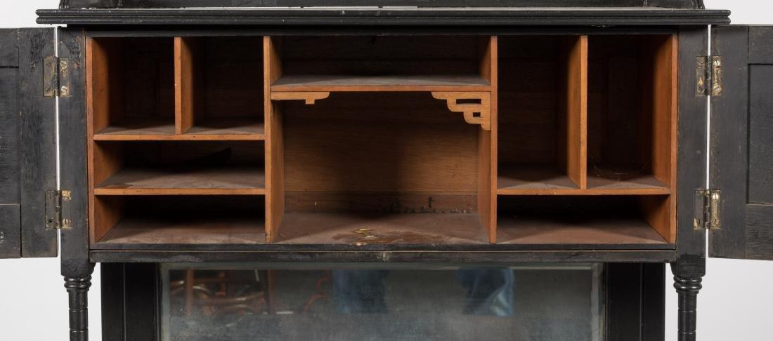 Ebonized Two Part Victorian Davenport Desk - 4