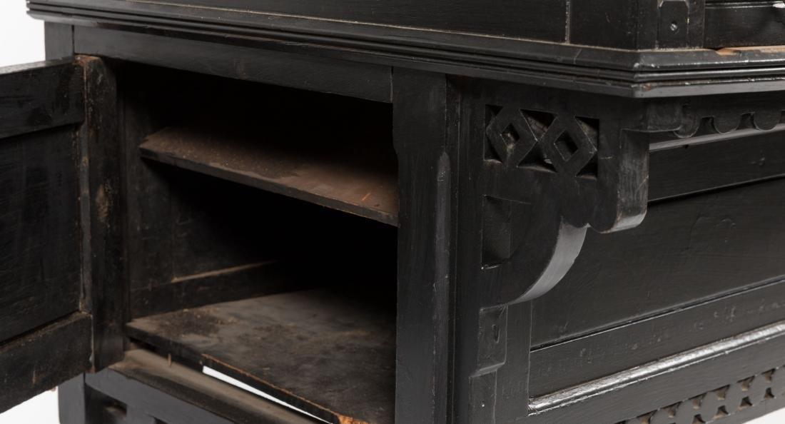 Ebonized Two Part Victorian Davenport Desk - 5