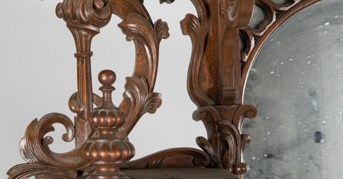 Two Part Victorian Marble Top Etagere - 4
