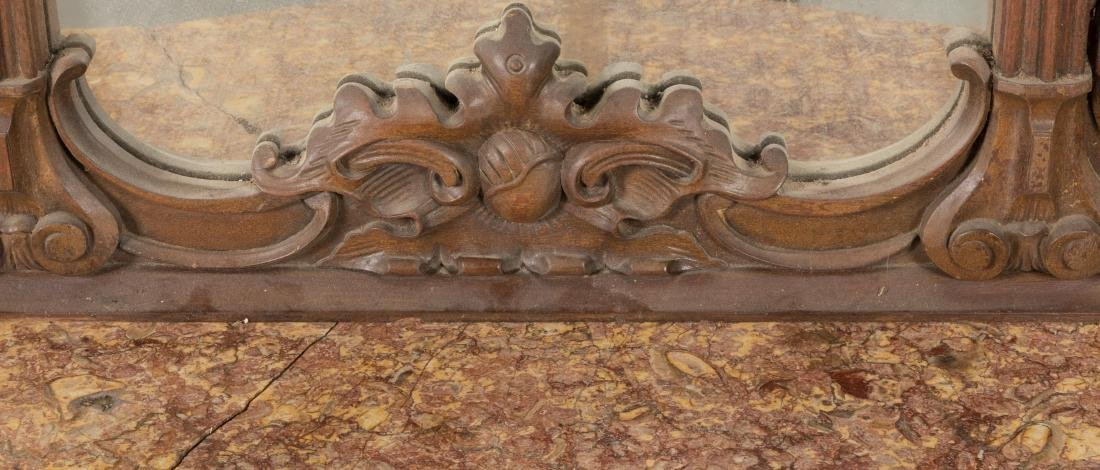 Two Part Victorian Marble Top Etagere - 7